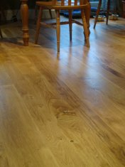 New English Character Oak flooring installed following flood damage. - Photo 6 of 9