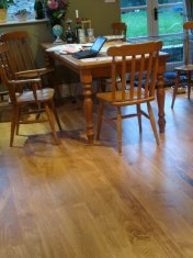 New English Character Oak flooring installed following flood damage. - Photo 8 of 9