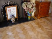 Prime Oak block in herringbone pattern with a two block border. Finished with Hardwax Oil - Photo 2 of 12