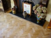 Prime Oak block in herringbone pattern with a two block border. Finished with Hardwax Oil - Photo 11 of 12