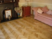 Prime Oak block in herringbone pattern with a two block border. Finished with Hardwax Oil - Photo 12 of 12