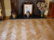 Prime Oak block in herringbone pattern with a two block border. Finished with Hardwax Oil - Photo 3 of 12