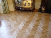 Prime Oak block in herringbone pattern with a two block border. Finished with Hardwax Oil - Photo 4 of 12