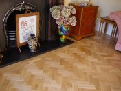 Prime Oak block in herringbone pattern with a two block border. Finished with Hardwax Oil - Photo 8 of 12