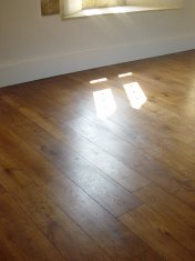 Engineered board with 6mm Character Oak surface, hand distressed and stained. Finished with hardwax Oil - Photo 7 of 7