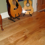 New English Character Oak flooring installed following flood damage. Somerset.