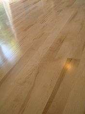 Character Maple bonded to concrete base and finished with Bona Mega gloss lacquer - Photo 9 of 14