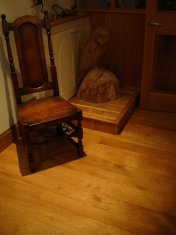 English Character Oak 100mm-200mm wide with Hardwax Oil finish. Photos taken 7 years after laying. - Photo 2 of 19