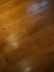 English Character Oak 100mm-200mm wide with Hardwax Oil finish. Photos taken 7 years after laying. - Photo 6 of 19