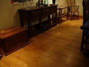 English Character Oak 100mm-200mm wide with Hardwax Oil finish. Photos taken 7 years after laying. - Photo 8 of 19
