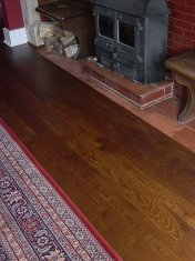 Solid English Character Oak with a dark Van Dyke stain and finished with Hardwax Oil - Photo 6 of 7