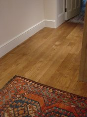 English Character Oak, hand distressed, antique stained. Fitted over underfloor heating. - Photo 2 of 10