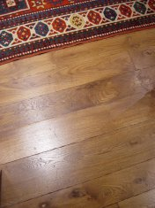 English Character Oak, hand distressed, antique stained. Fitted over underfloor heating. - Photo 3 of 10