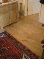Solid Oak 10mm overlay in English Character Oak fixed and finished on site with Hardwax Oil - Photo 12 of 17