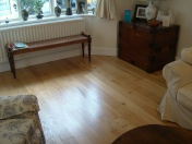 Solid Oak 10mm overlay in English Character Oak fixed and finished on site with Hardwax Oil - Photo 3 of 17