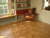 Character Oak Block in a herringbone pattern with a two block border. Finished with Hardwax Oil - Photo 14 of 20