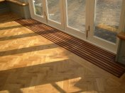 Character Oak Block in a herringbone pattern with a two block border. Finished with Hardwax Oil - Photo 9 of 20