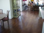Character Oak engineered board over underfloor heating. Stained and finished with Hardwax Oil on site. - Photo 12 of 19