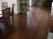 Character Oak engineered board over underfloor heating. Stained and finished with Hardwax Oil on site. - Photo 18 of 19