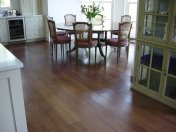 Character Oak engineered board over underfloor heating. Stained and finished with Hardwax Oil on site. - Photo 4 of 19