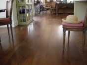 Character Oak engineered board over underfloor heating. Stained and finished with Hardwax Oil on site. - Photo 7 of 19