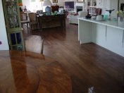 Character Oak engineered board over underfloor heating. Stained and finished with Hardwax Oil on site. - Photo 10 of 19