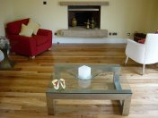 English Elm, 75mm, 100mm & 125mm over underfloor heating finished with hardwax oil. Staircase by Bob Coles - Photo 5 of 10