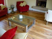 English Elm, 75mm, 100mm & 125mm over underfloor heating finished with hardwax oil. Staircase by Bob Coles - Photo 6 of 10