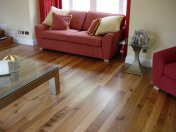 English Elm, 75mm, 100mm & 125mm over underfloor heating finished with hardwax oil. Staircase by Bob Coles - Photo 7 of 10