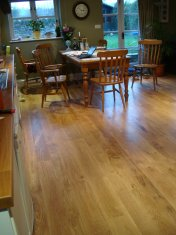 New English Character Oak flooring installed following flood damage. - Photo 3 of 9