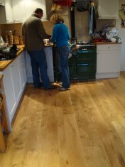 New English Character Oak flooring installed following flood damage. - Photo 5 of 9