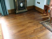 Wide Character Oak, 200mm-350mm, screws covered with Oak pellets, finished with Van Dyke stain and Hardwax Oil - Photo 2 of 17