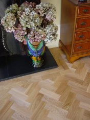 Prime Oak block in herringbone pattern with a two block border. Finished with Hardwax Oil - Photo 5 of 12