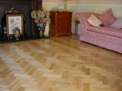 Prime Oak block in herringbone pattern with a two block border. Finished with Hardwax Oil. Newport, South Wales - Photo 6 of 12