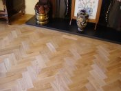 Prime Oak block in herringbone pattern with a two block border. Finished with Hardwax Oil - Photo 7 of 12