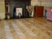 Prime Oak block in herringbone pattern with a two block border. Finished with Hardwax Oil - Photo 10 of 12