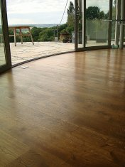 Mixed width engineered board with an antique stain and Hardwax oil - Photo 13 of 16
