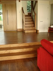 Mixed width engineered board with an antique stain and Hardwax oil - Photo 6 of 16