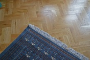 Oak block floor laid in a double herringbone pattern with a two block border and finished with Hardwax Oil - Photo 3 of 20