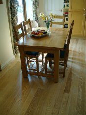 Ash plank with traffic lacquer. Pictures taken following a refurbishment twelve years after installation. - Photo 6 of 19