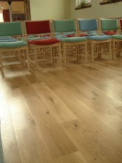 Engineered board laid as a floating floor. Part of an extensive refurbishment of St Andrews church in Devizes. Finished - Photo 5 of 10
