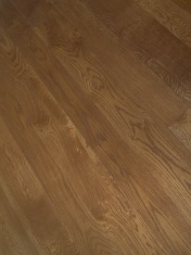 solid English Oak 10mm overlay. Hand distressed edges, Van Dyke stain and Hardwax Oil - Photo 3 of 9