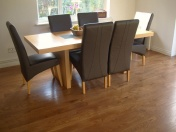 solid English Oak 10mm overlay. Hand distressed edges, Van Dyke stain and Hardwax Oil - Photo 7 of 9