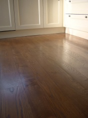 solid English Oak 10mm overlay. Hand distressed edges, Van Dyke stain and Hardwax Oil - Photo 8 of 9