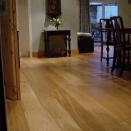 Engineered board finished with Hardwax Oil