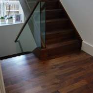 95mm Prime Walnut plank installed in a new house.