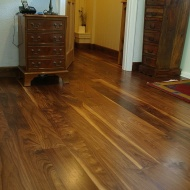Solid Walnut, Character grade finsished with Hardwax Oil