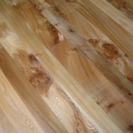 English Elm in a Bristol town house. Pictures taken five years after floor laid. Repair works to joists were made before